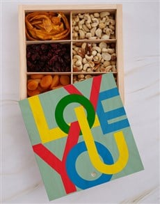 gifts: Love You Fruit And Nuts Treasure Box!