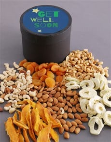 gifts: Get Well Soon Fruit And Nuts Hat Box!