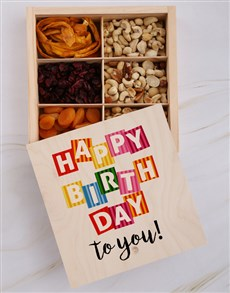 gifts: Happy Birthday To You Fruit And Nuts Treasure Box!