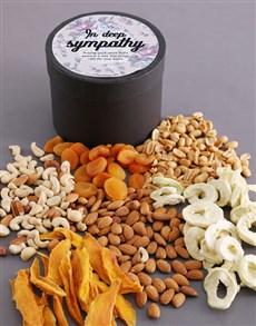 gifts: In Deep Sympathy Fruit And Nut Hatbox!