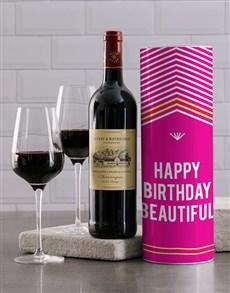 gifts: Beautiful Birthday Wine Tube!