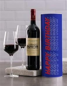 gifts: Blue Birthday Wine Tube!