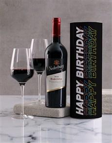 gifts: Black Birthday Wine Tube!