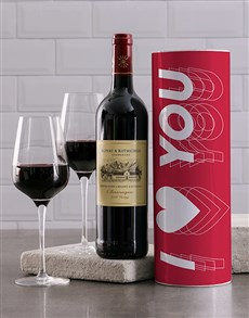 gifts: Red Heart Wine Tube!