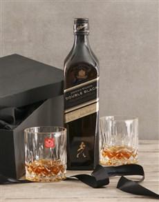 gifts: Johnnie Walker Double Black Gift Set!