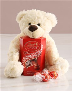 gifts: Teddy Bear With Lindt Chocolate!