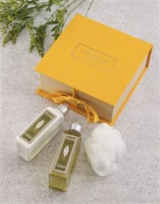 gifts: Loccitane Verbena Shower Set!