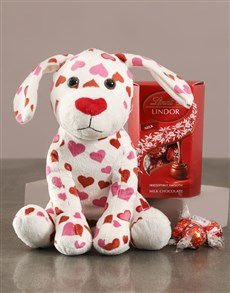 gifts: Puppy Love Teddy With Lindt Hamper!