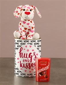 gifts: Puppy Teddy Hugs And Lindt Kisses In Tin!