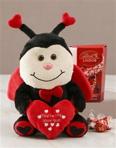 gifts: Ladybug Teddy And Lindt Choc Hamper!