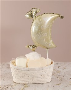 gifts: Love You to The Moon Soap Basket !