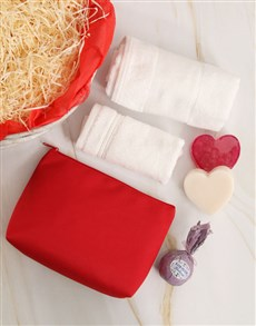 gifts: Red Hot Love Bathtime Gift Basket!