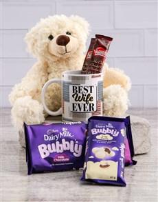 gifts: Best Wife Mug and Choc Hamper!