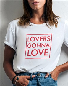 gifts: Lovers Gonna Love Ladies White Tshirt!