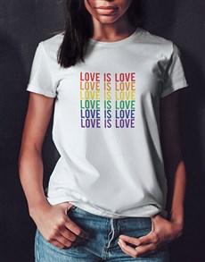 gifts: Love Is Love Ladies White Tshirt!