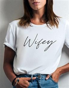 gifts: Wifey Ladies White Tshirt!