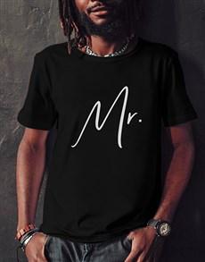 gifts: Mr Black Tshirt!