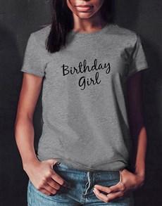 gifts: Grey Birthday Girl T Shirt!