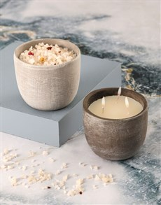 gifts: Rustic Vanilla Scented Candle Set!