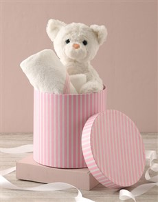 gifts: Cat And Baby Bath Time Hat Box Hamper !