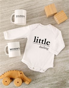 gifts: Little Darling Baby Onesie Set!