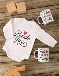 gifts: Bundle of Joy Baby Onesie Set!