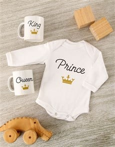 gifts: Little Prince Baby Onesie Set!