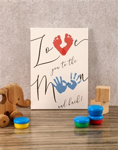 gifts: To The Moon And Back Baby Canvas!
