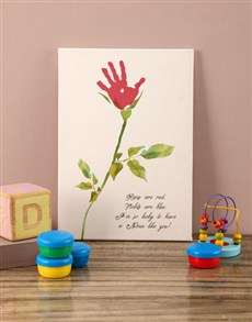 gifts: Poem For Baby Canvas!