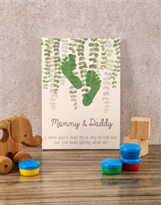 gifts: Mommy And Daddy Baby Canvas!