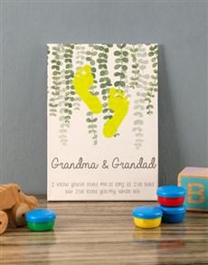 gifts: Grandma And Grandad Baby Canvas!