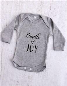 gifts: Bundle of Joy Grey Baby Onesie!