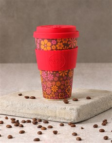 gifts: Pink Floral Travel Eco Cup!
