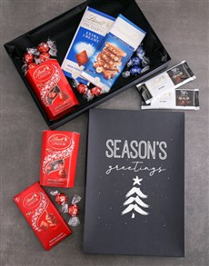 gifts: Seasons Greetings Lindt Chocolate Box!
