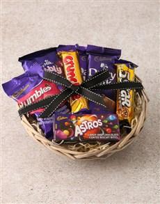 gifts: Cadbury Chocolate Basket Hamper!