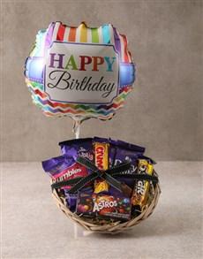 gifts: Cadbury Chocolate Birthday Basket!
