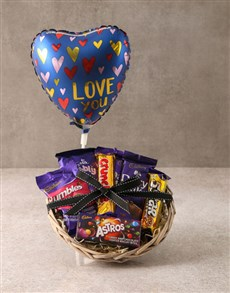 gifts: Cadbury Choc Love Basket Hamper!