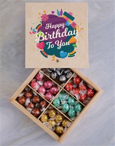gifts: Lindt Chocolate Birthday Crate!