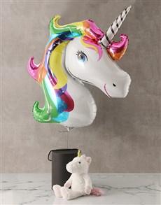 gifts: Plush Unicorn and Balloon Box!