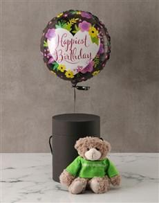 gifts: Happy Birthday Plush Bear and Balloon Box!