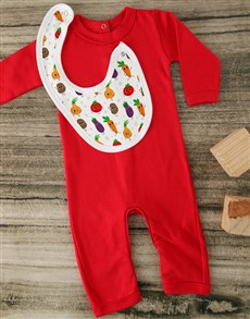 gifts: Freshly Grown Red Baby Outfit!