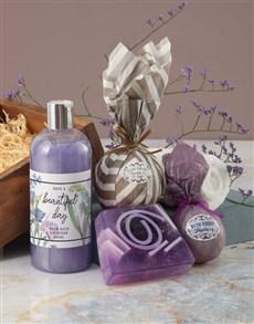 gifts: Beautiful Day Purple Bath Hamper!