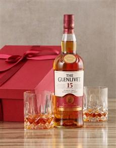 gifts: Glenlivet Fifteen Year Scotch Whisky Set!