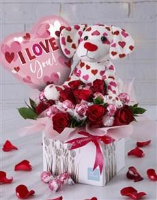 flowers: Pink Puppy Love Edible Arrangement!