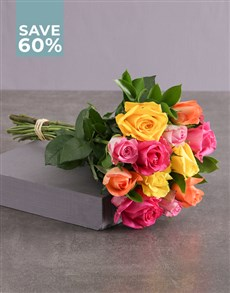 flowers: Bold and Brilliant Mixed Roses!