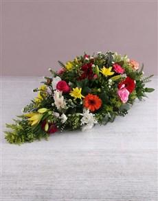 flowers: Seasonal Funeral Coffin Display!