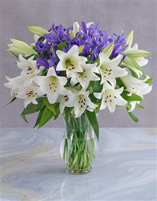 gifts: Irises and Lilies Vase!