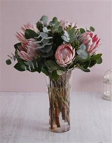 flowers: Protea King of Flowers Vase !