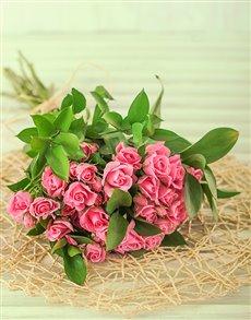 gifts: 50 Kenyan Cluster Pink Rose Bouquet!