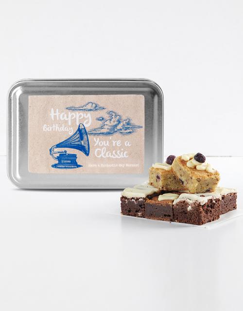 brownies: Personalised Birthday Classic Gourmet Brownie Tin!